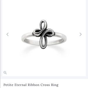Petite Eternal Ribbon Cross Ring